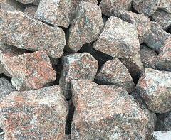 Бутовый камень серо розовый